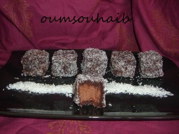gâteau noix de coco chocolat