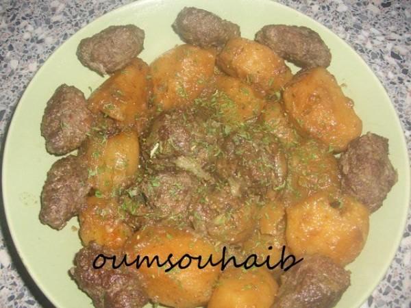 pomme de terre et coeur d'artichaut farcis batata karnoun