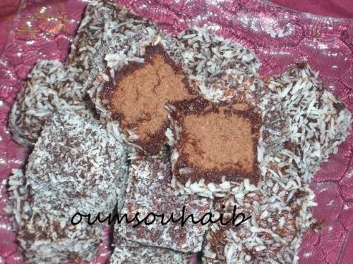 carrés moelleux chocolat noix de coco