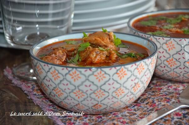 chorba frik soupe algérienne au blé concassé 2