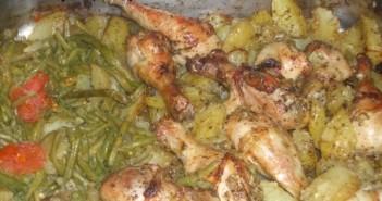 pilons de poulet express au four et ses pommes de terre fondantes