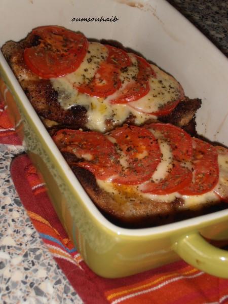escalopes milanaises tomate mozzarella au four