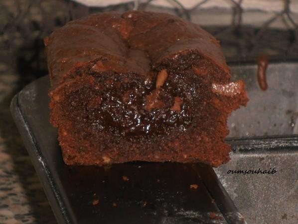 gâteau au chocolat mi-fondant