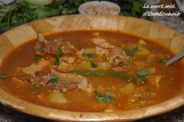 recette aich algérien (berkoukes au poulet et agneau)