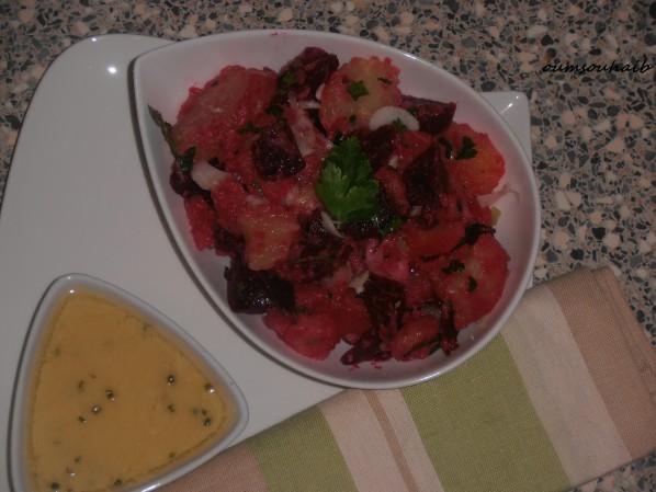 salade pommes de terre betterave