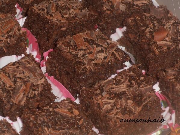 basbousssa au chocolat et noix de coco