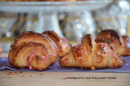 Croissants aux pralines roses de Mounir Meilleur pâtissier