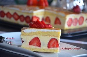 fraisier de christophe felder crème au beurre légère