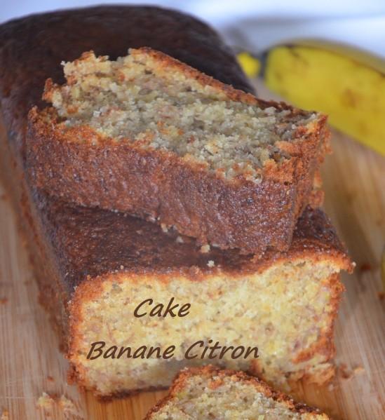 cake super moelleux banane citron