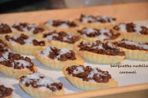 tartelettes nutella caramel noix de coco gâteaux pour l'aid