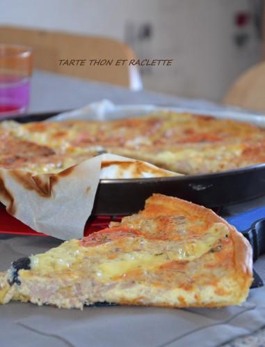 tarte feuilletée au thon et fromage raclette