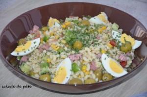 salade de pâte aux olives