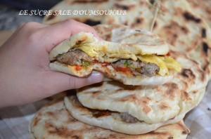 chapati tunisien farci
