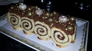 bûche royale chocolat soumia illies