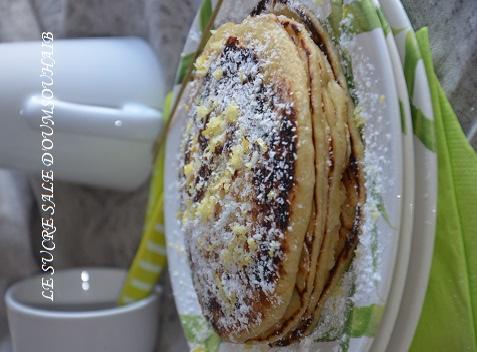 Pancakes au citron et noix de coco