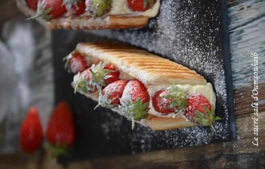 mille feuille aux fraises des bois