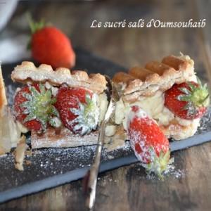 mille feuille aux fraises4