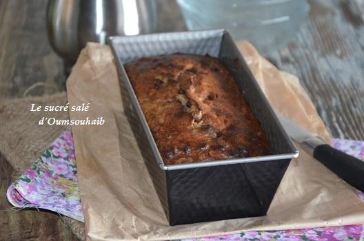 Banana bread noix 4