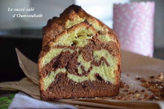 cake marbré pistache 3