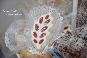 gateau algerien la feuille noix de coco confiture