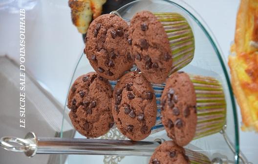 muffins moelleux aux pepites de chocolat