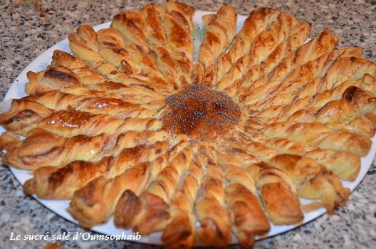 tarte soleil au saumon et fromage boursin