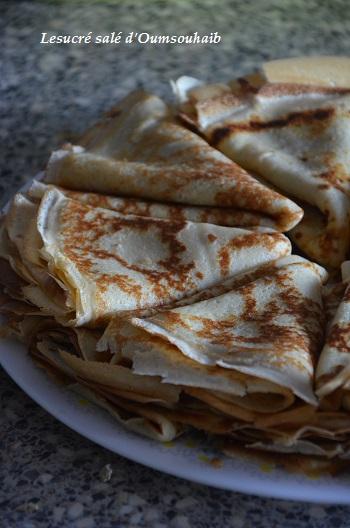 crêpes vanille et fleur d'oranger