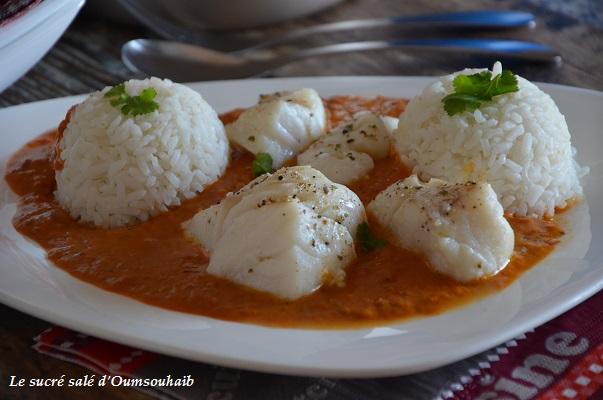 dos de cabillaud au curry t lait de coco
