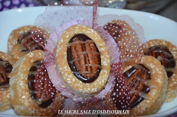 mini tartelette chocolat caramel beurre salé noix