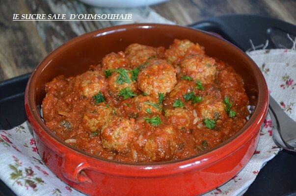 boulette d'agneau sauce tomate