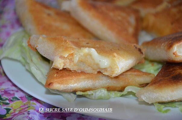 brick camembert pommes de terre et lardons