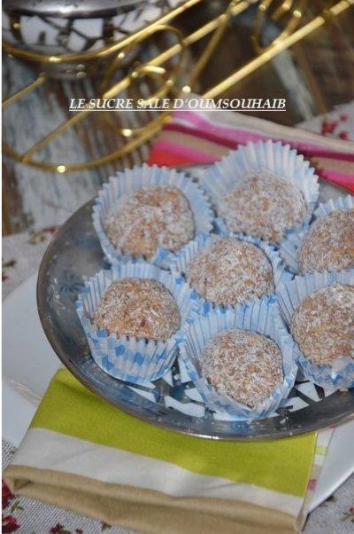 boule coco chocolat sans cuisson 2