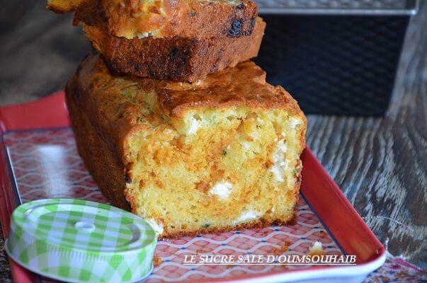 cake salé feta basilic et tomates séchées 2
