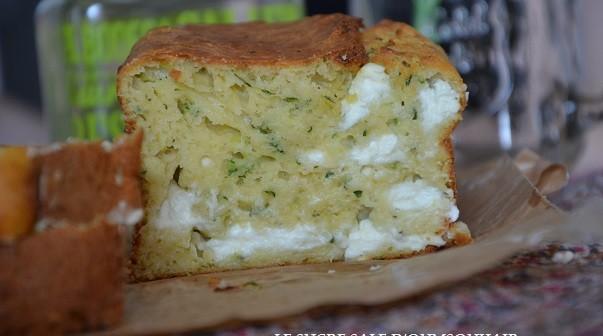 cake salé courgette feta et menthe