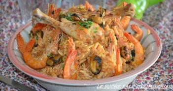 riz aux crevettes façon paella