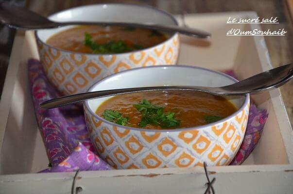 soupe de patate douce lait de coco curry et gingembre