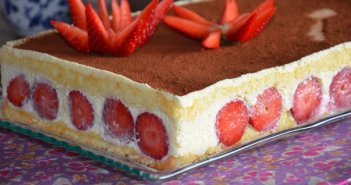 gateau tiramisu aux fraises 2