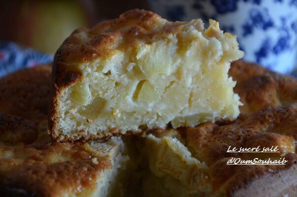 gâteau au yaourt aux pommes moelleux 2