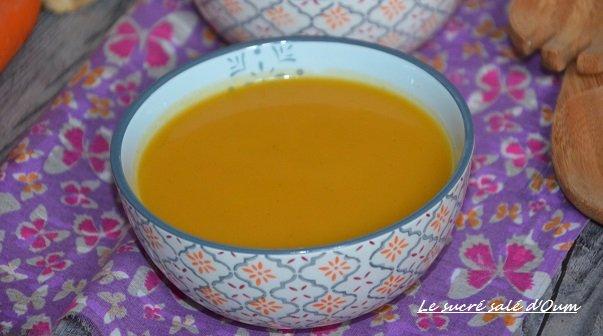 soupe celeri carottes gingembre