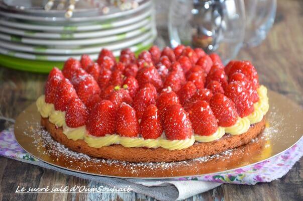 tarte aux fraises avec palet breton