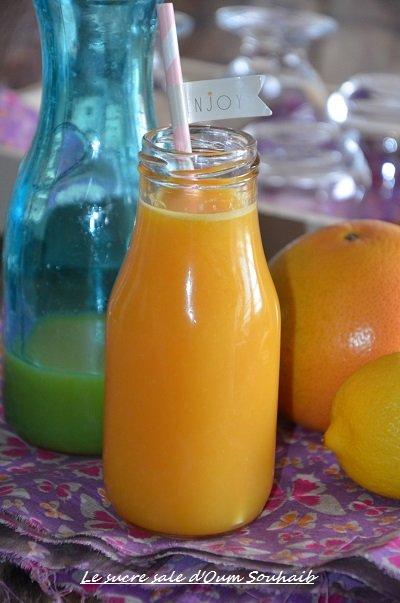 jus de pamplemousse citron orange (jus détox gingembre)