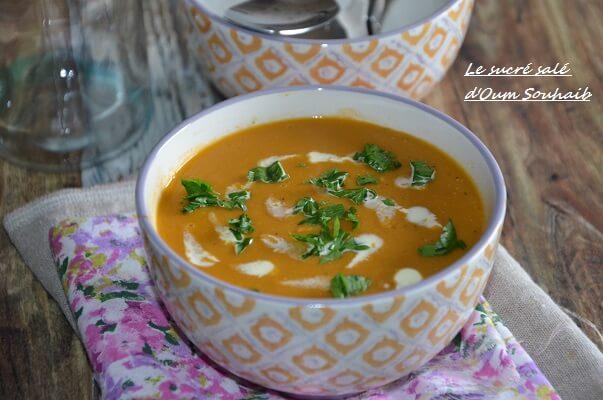 soupe de lentilles corail indienne