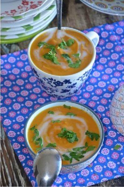 velouté de carottes au lait de coco et gingembre 1