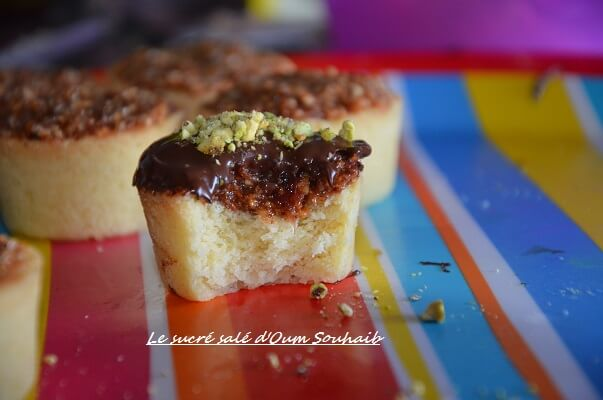 tartelette fondante à la confiture chocolat recette halwa et amande