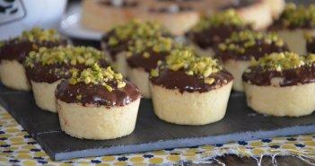 recette tartelette fondante à la confiture et chocolat sans oeuf sans levure halwa et amandes