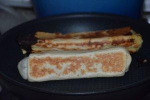 sandwich msemen au poulet et pommes de terre 10