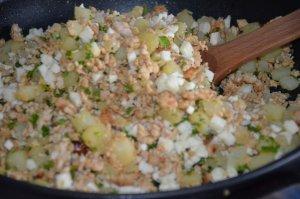 sandwich msemen au poulet et pommes de terre 4
