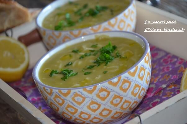 soupe de pois cassés et vermicelles 1