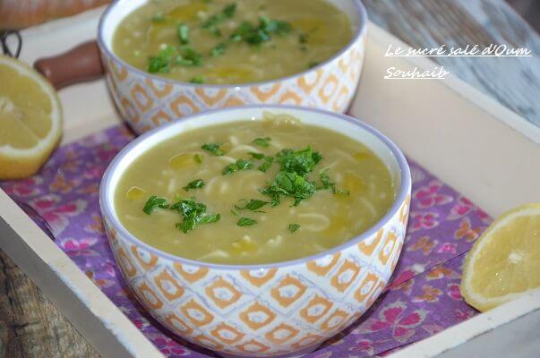 soupe de pois cassés et vermicelles