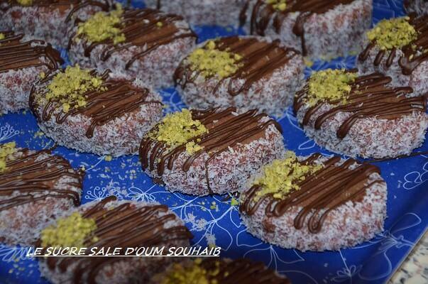gâteau algérien biscuit sablé cacao en poudre et chocolat pour l aid